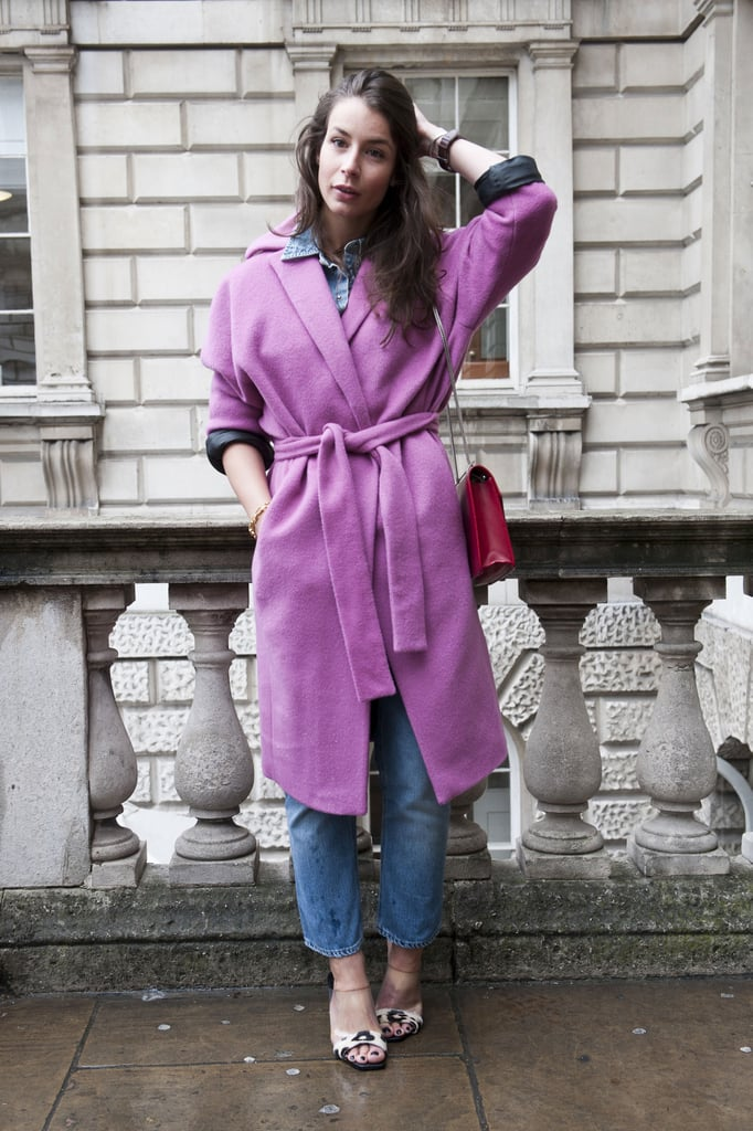 Purple that managed to be cool and classic — and not too girlie.