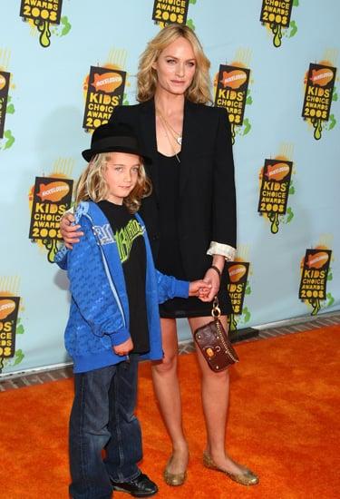 Amber Valletta and son Auden at Nickelodeon Kids' Choice Awards.