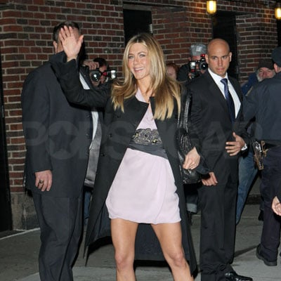 Jennifer Aniston Goes to The Late Show