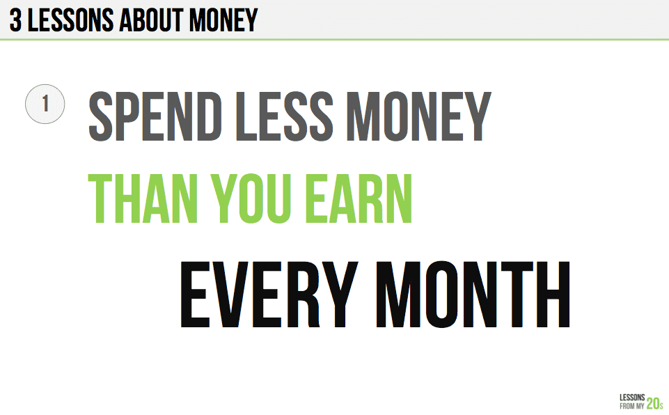 The Three Key Lessons About Money