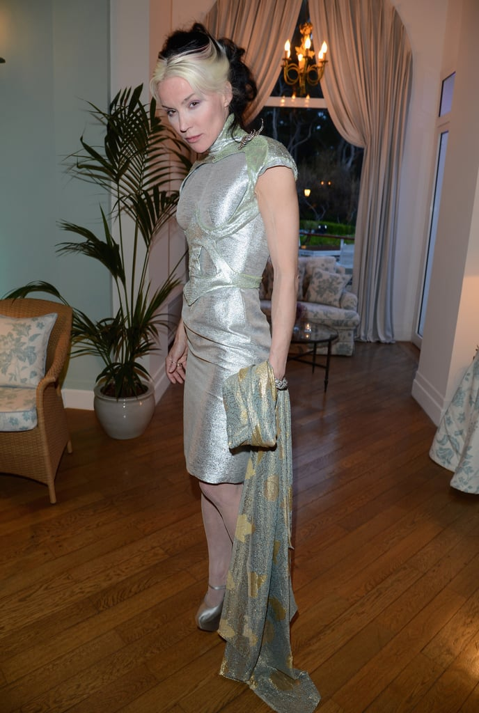 Daphne Guinness showed off a silvery frock at Gucci's party.