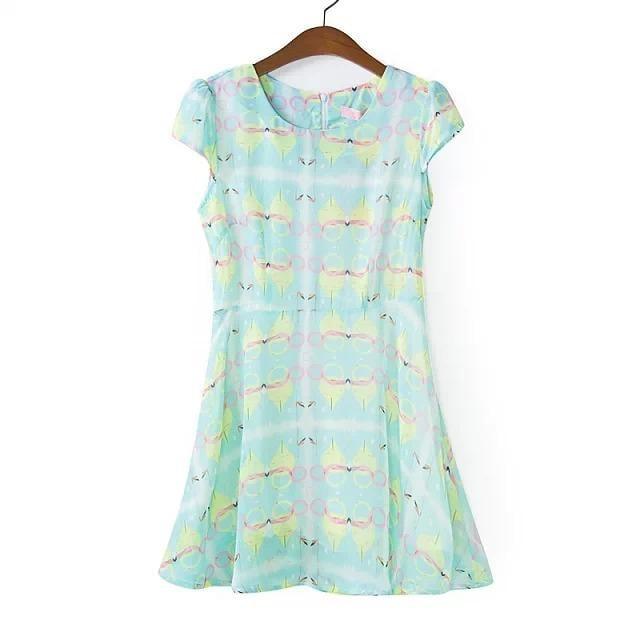 Flower Idea Chiffon Dress
