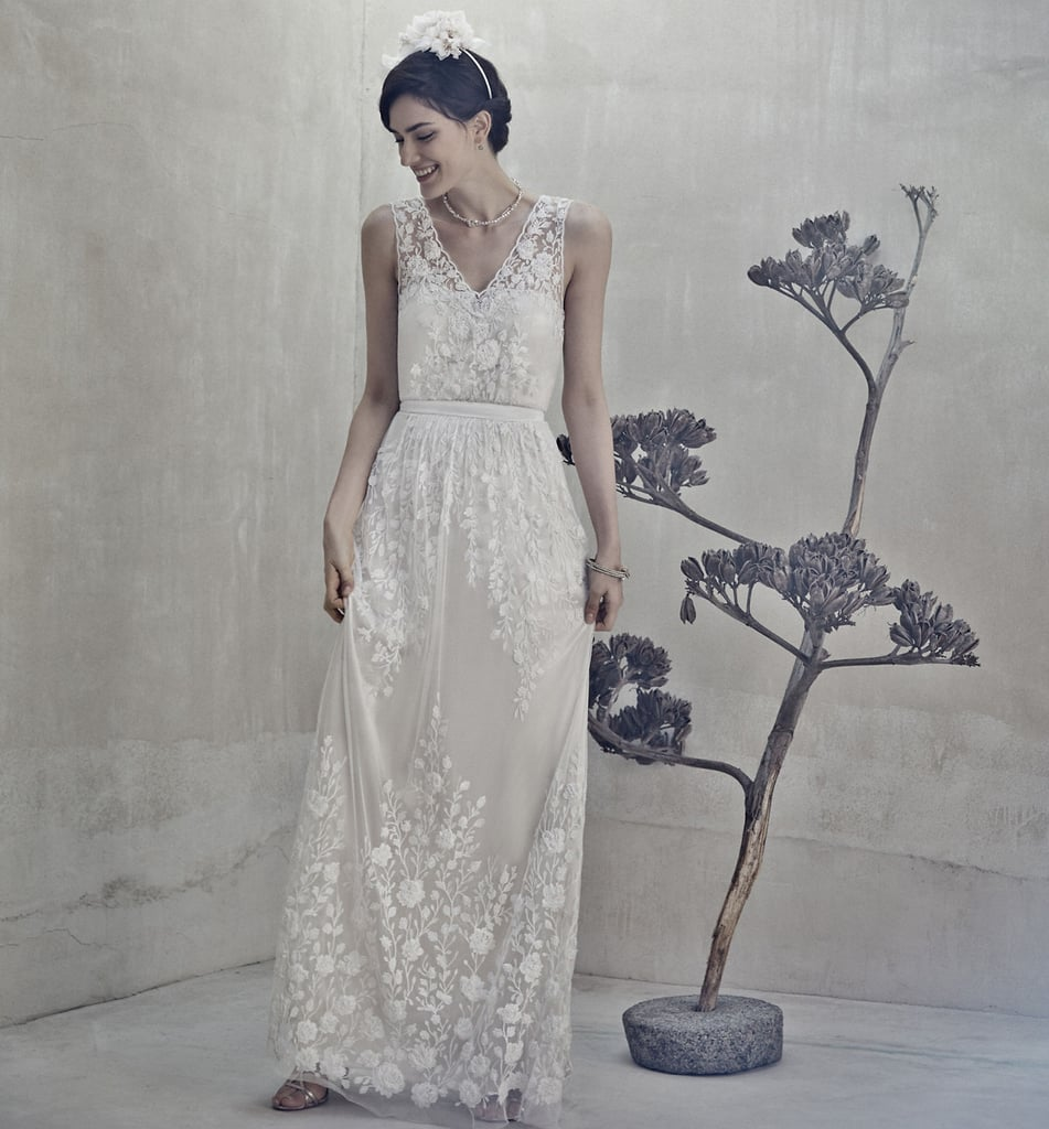 Bhldn Sian White Lace Gown