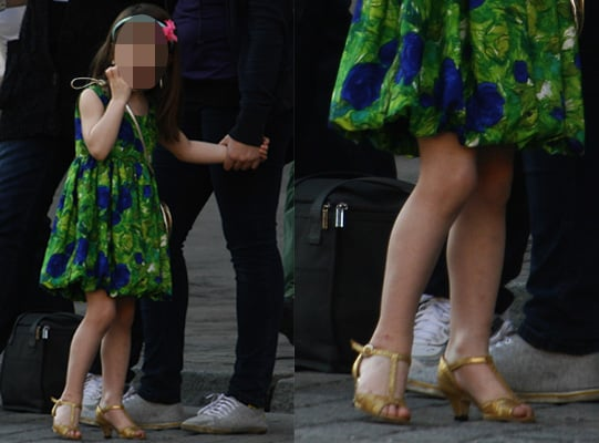 Suri Cruise in Gold Heels, First Heels Poll