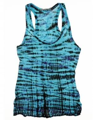 Proenza Schouler Exclusive Blue Tie-Dye Tank