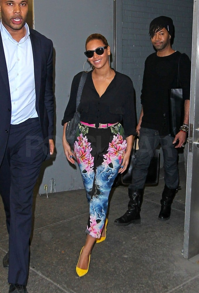 Beyoncé Knowles leaves an office building in NYC.