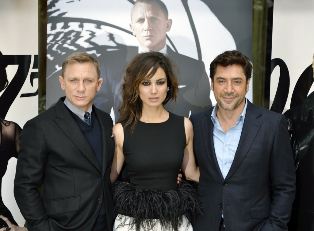 Daniel Craig, Javier Bardem, and Bérénice Marlohe attended a photocall to promote their new film Skyfall in Paris.
