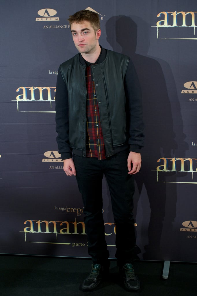 Robert Pattinson was in Madrid to promote his new film Breaking Dawn — Part 2.