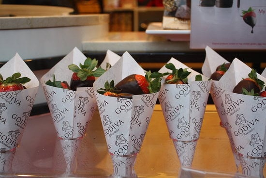 Who can resist chocolate-covered strawberries from Godiva? Dig a Cherry can't!