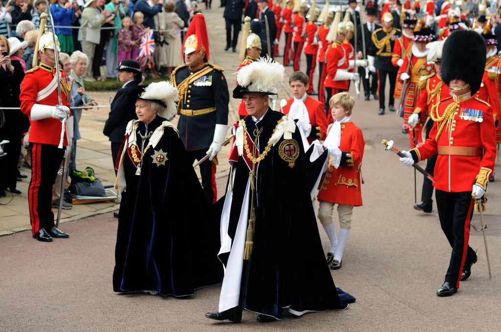 The royal couple attended the Order of the Garter Ceremony at Windsor Castle on June 14, 2010.