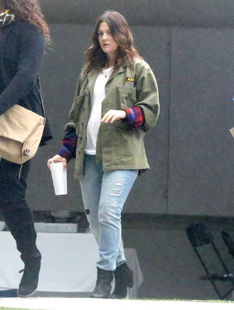 Drew Barrymore carried a drink in her hand over the weekend.