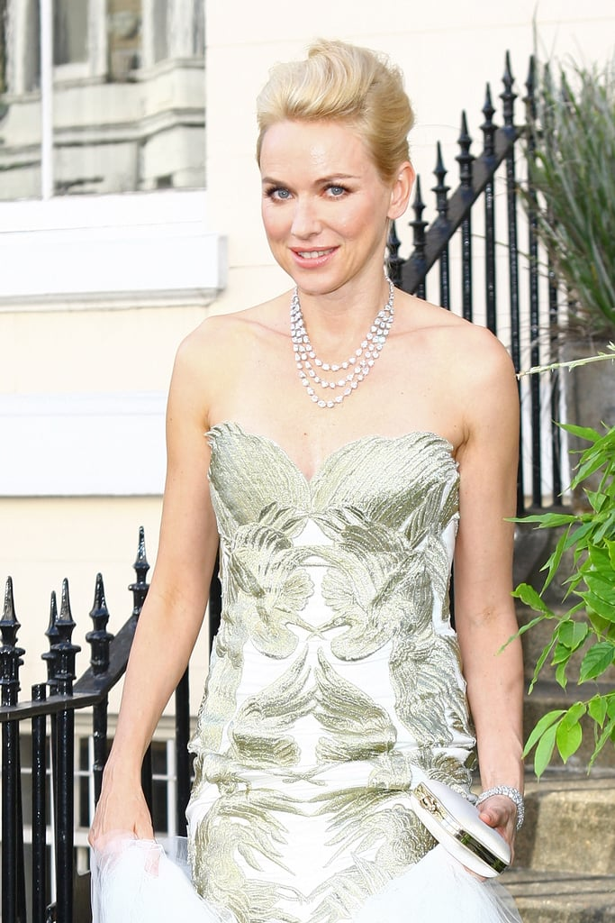 Naomi Watts left her home in London.