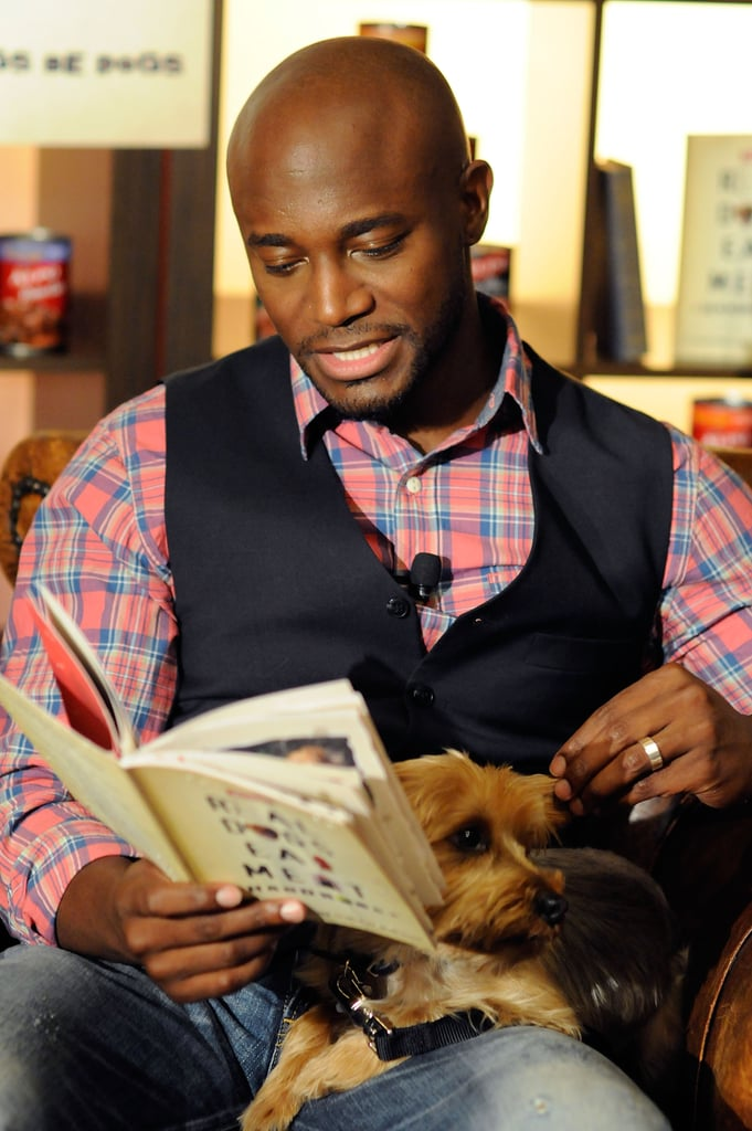 Taye Diggs With Cute Dogs