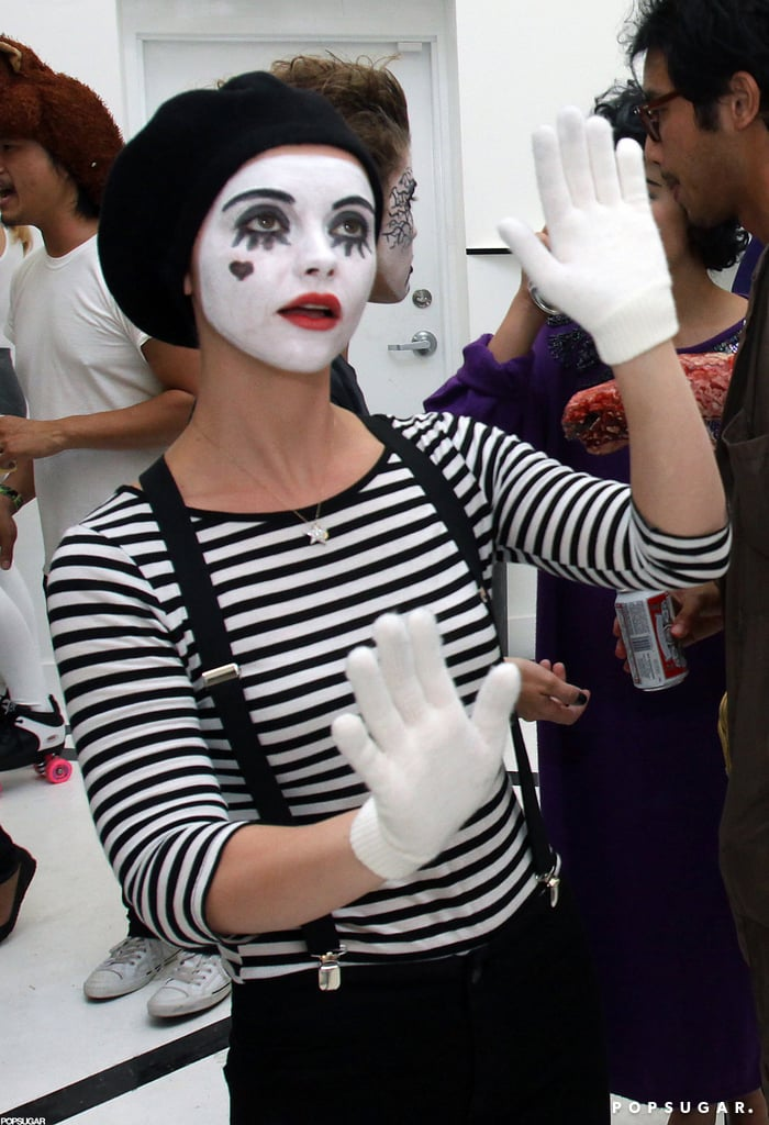 Christina Ricci mimed her way through the holiday in Miami in 2009.