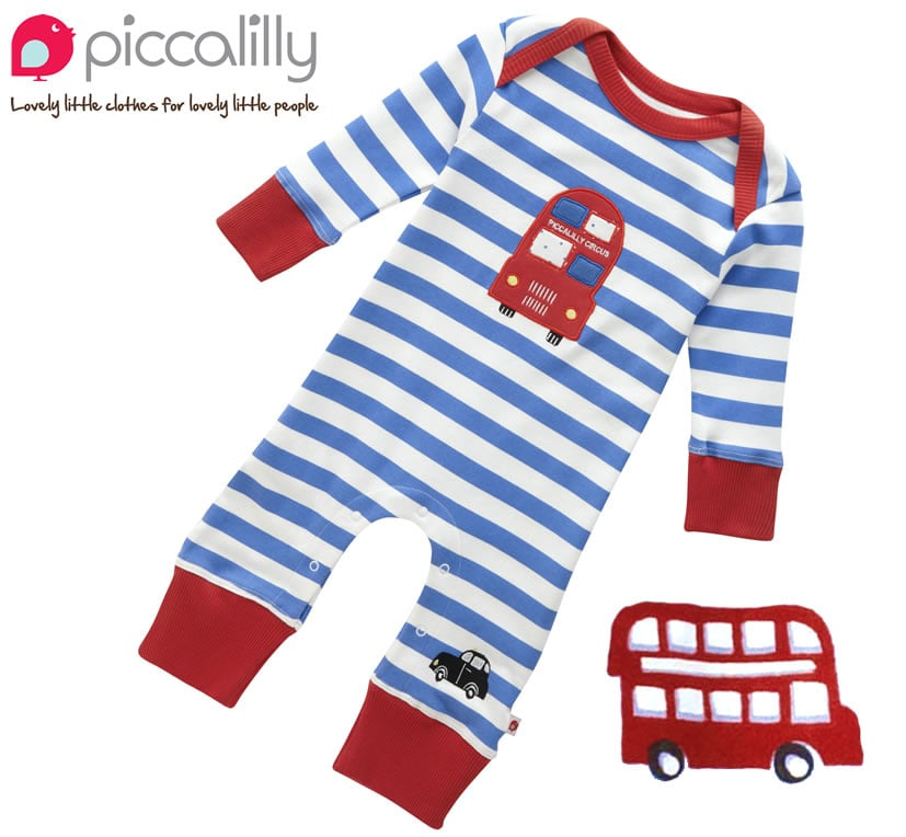 How sweet is Babipur's Piccalilly Organic Cotton London Bus Playsuit ($34) — either for a baby who lives in London or one whose parents aspire to do so?