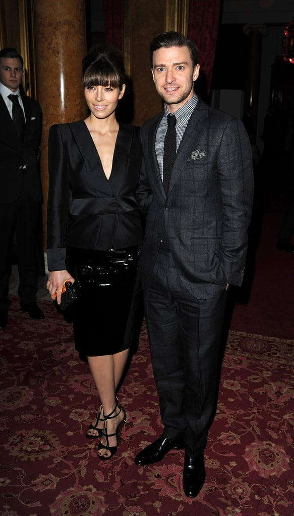 Justin Timberlake and Jessica Biel checked out Tom Ford's show during London Fashion Week in February, just after news was released that JT and Tom had plans to team up for a menswear collection.