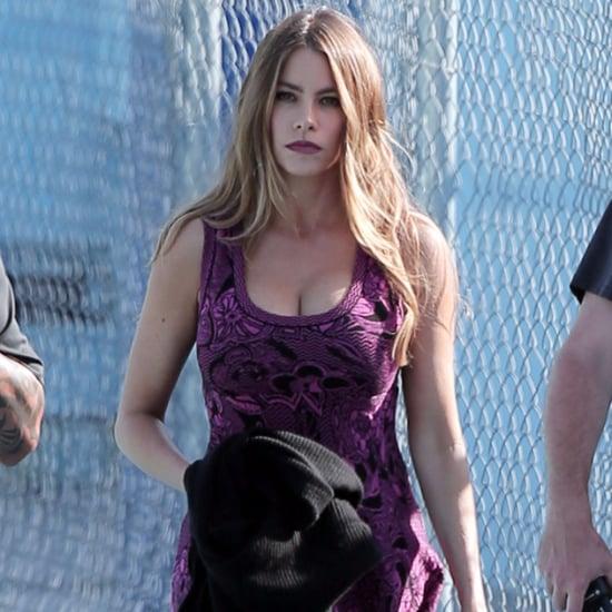 Sofia Vergara Back on Set For Modern Family