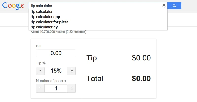 Calculate a tip
