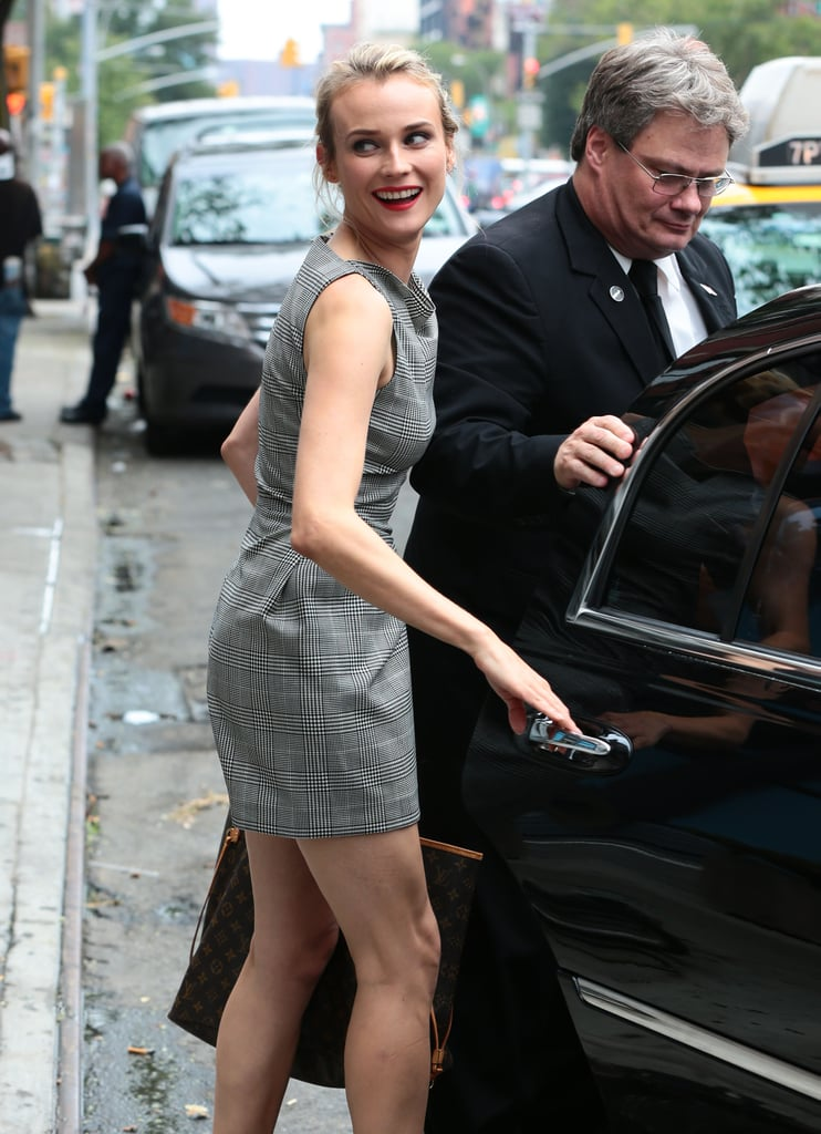 Diane Kruger smiled in NYC on Tuesday.