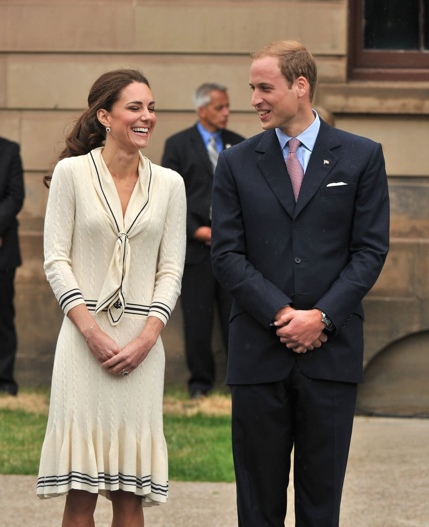 Kate Middleton and Prince William chatted with each other.