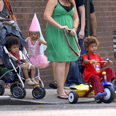 Leni Klum, Johan Samuel and Henry Samuel Out for a Walk in NYC Wearing Costumes