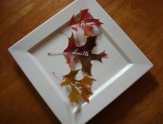 Cool Idea: Leaves Placecards