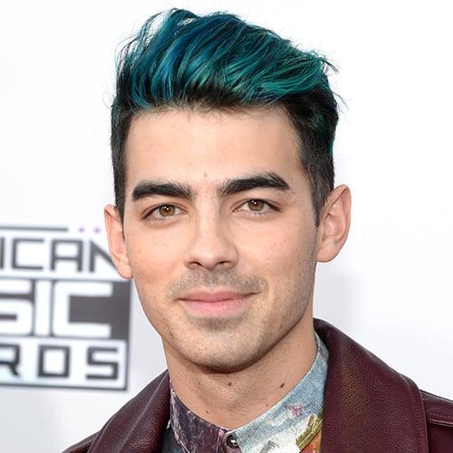 Joe Jonas Blue Hair 2015 | AMAs