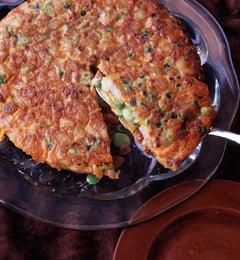 Fast & Easy Dinner: Potato, Chorizo, and Vegetable Omelet
