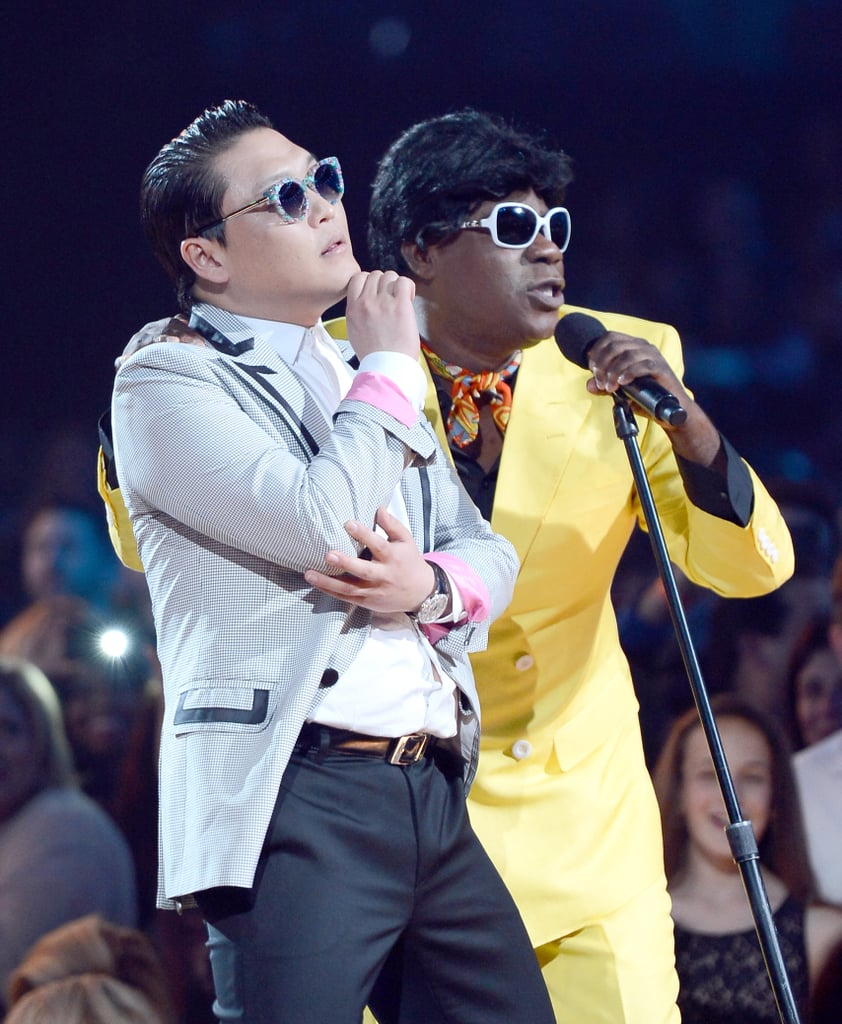 Psy and host Tracy Morgan cracked up the crowd.