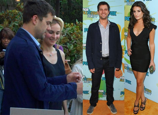 Josh Brings Diane to Party With Glee Kids For Fox in Pasadena