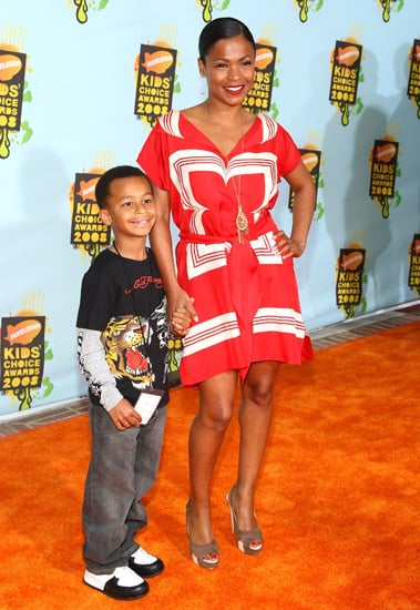 Nia Long and son Massai at Nickelodeon Kids' Choice Awards.