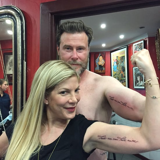 Tori Spelling and Dean McDermott Get Matching Bicep Tattoos in Paris: Find Out the Sweet Meaning