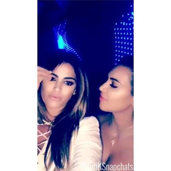 Kim Kardashian & Calvin Harris Are Basically Best Friends Now