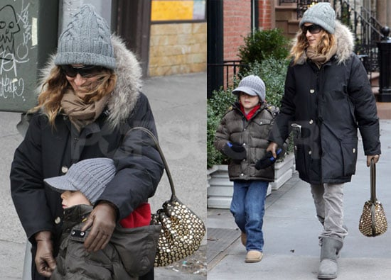 Photos of Sarah Jessica Parker And James Wilkie Broderick Together in NYC