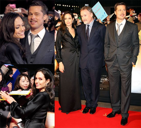 Photos of Brad Pitt, Angelina Jolie and David Fincher at Tokyo Benjamin Button Premiere