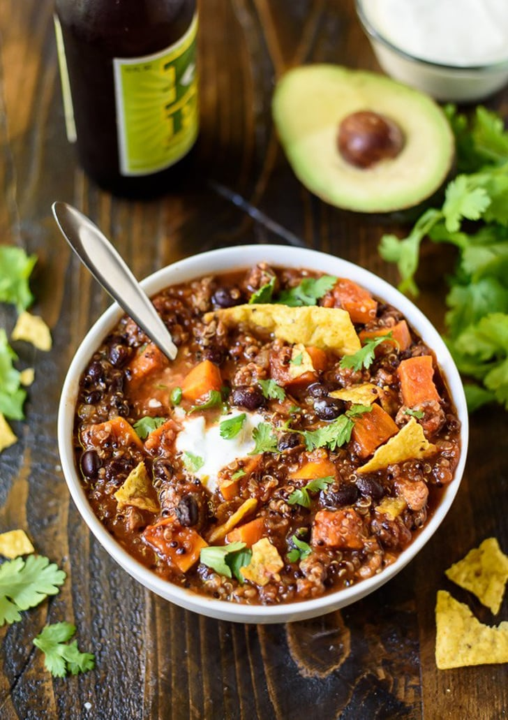 Slow-Cooker Turkey Chili With Quinoa, Sweet Potatoes, and Black Beans ...