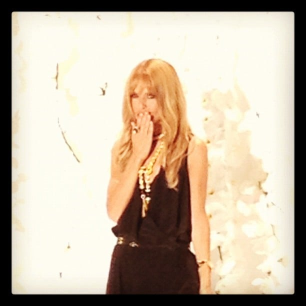 Rachel Zoe blew kisses to the audience after her runway show. Source: Instagram user instylemagazine