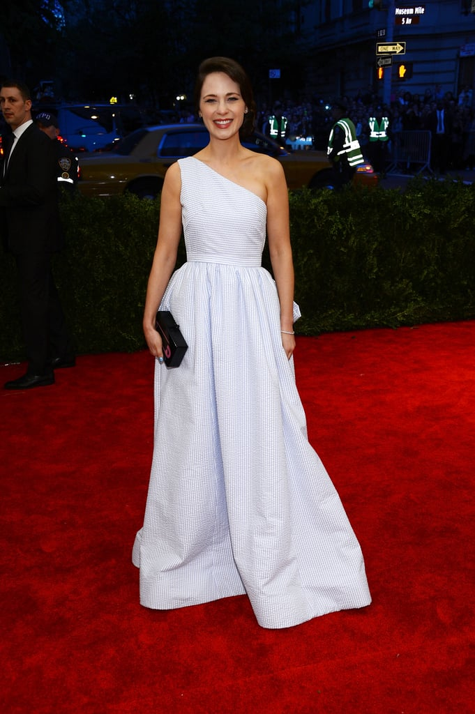 Kind of sexy for this lady, but the girl clearly loves some Tommy Hilfiger. She sported this number to the Met Gala in 2013.