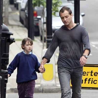 Jude Law and Iris Law Out in London