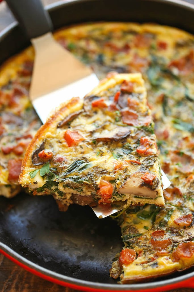 Bacon, Mushroom, and Spinach Frittata