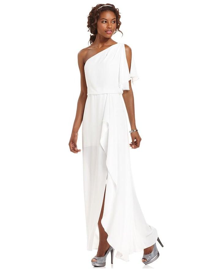 BCBG Max Azria Kendal One-Shoulder Gown ($298)