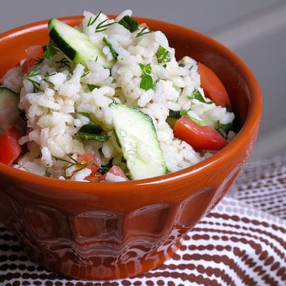 Rice Salad With Sweet Herbs