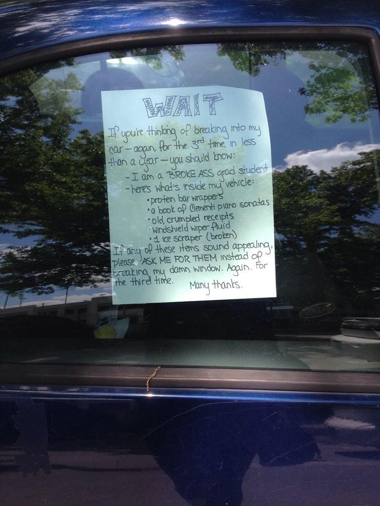 """Seen on a college campus."" Source: Reddit user thatonegirl435 via Imgur"
