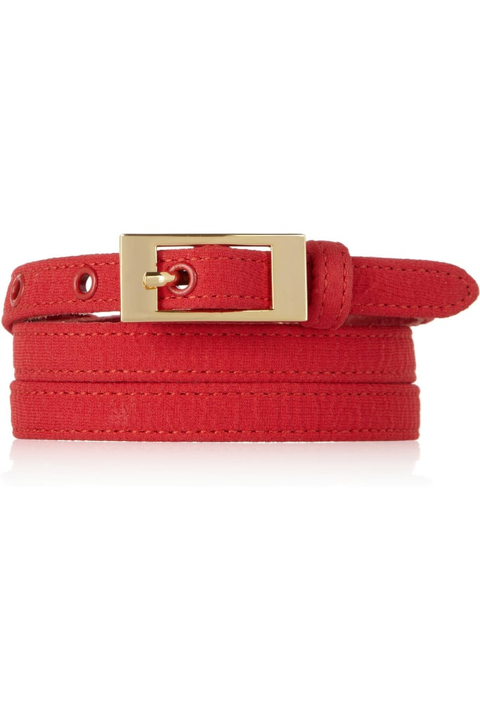 Oscar de la Renta for The Outnet crinkle-crepe leather belt