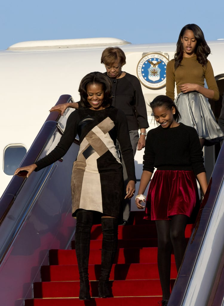 Michelle, Malia, and Sasha Obama landed in Beijing with Michelle's mom, Marian, on March 20.