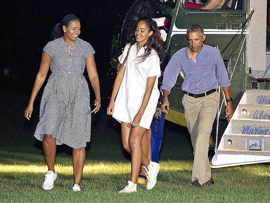 The Obamas Have Landed! First Family Returns from Martha's Vineyard