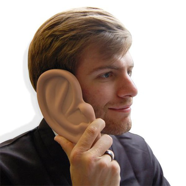 """""""Let me get your number. Wait hold on, let me get out my giant ear-shaped case ($10) first."""""""