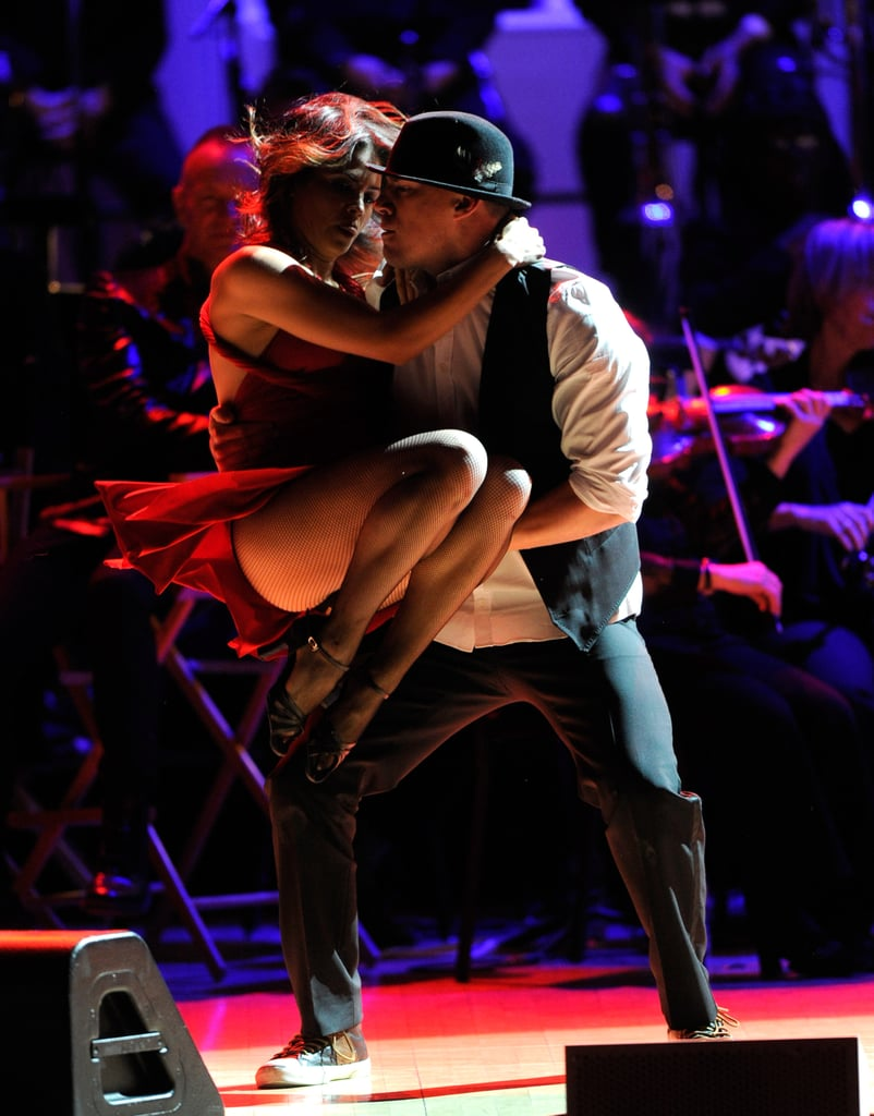 Channing Tatum spun Jenna Dewan during their dance number at the Revlon Concert for the Rainforest Fund at Carnegie Hall in NYC.