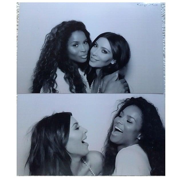 Kim and Ciara let out a laugh. Source: Instagram user kimkardashian