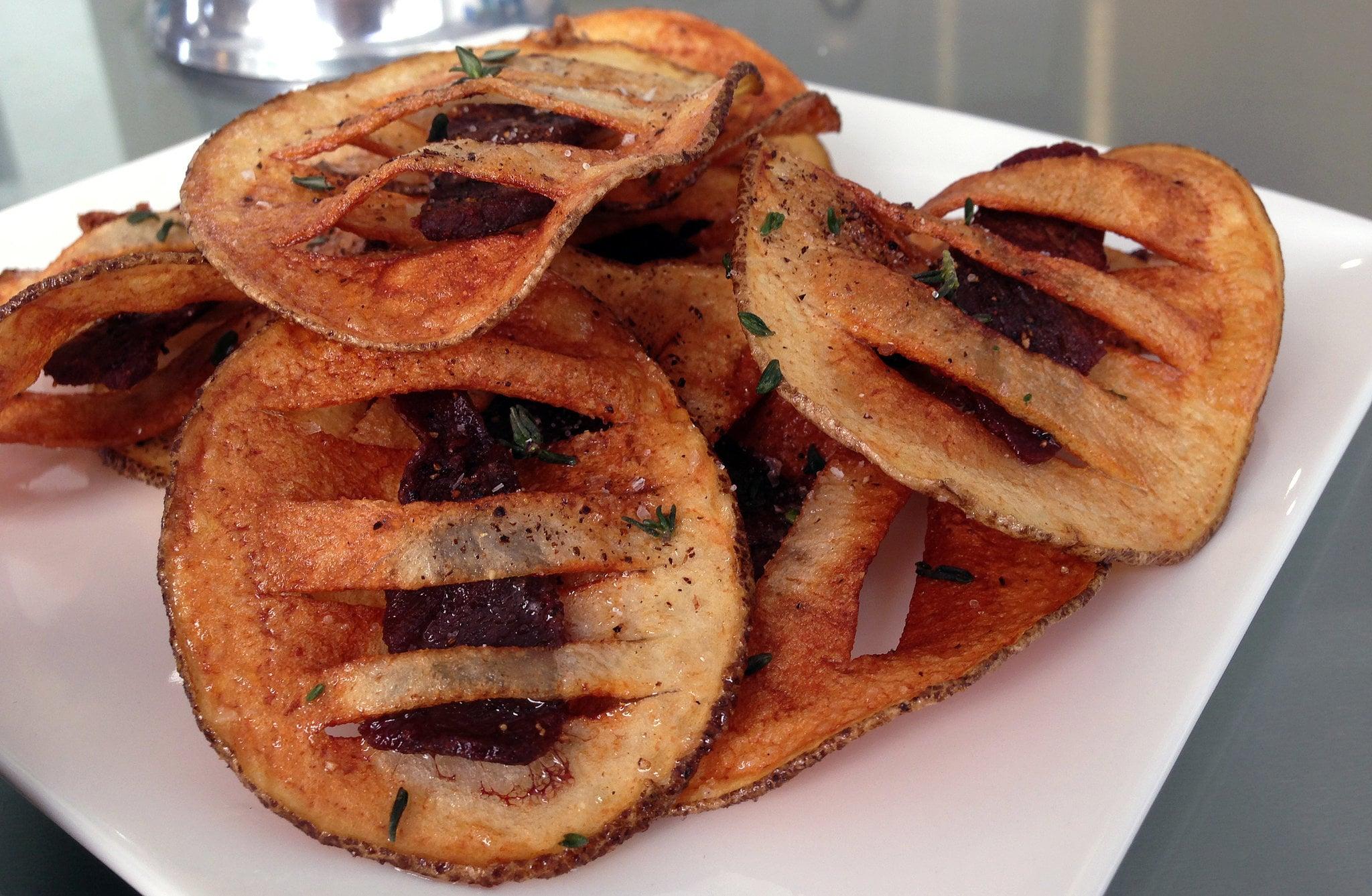 Steak-Stuffed Potato Chips